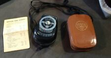Vintage Ranger Exposure Meter in Leather Case w/ Index # Sheet