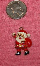 Vintage Santa Claus Charm Pendant marked Phister Ent 1988