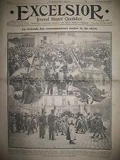 NORD VALENCIENNES HAUTMONT MARCHé MANIFESTATIONS CONTRE VIE CHERE EXCELSIOR 1911