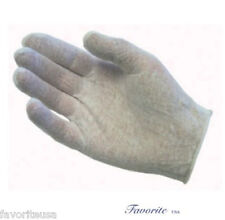 COTTON WHITE LISLE INSPECTION LADIES GLOVES 1 DZ PAIRS