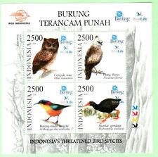 Indonesia 2012 Threatened Bird Species ~ M/S mint