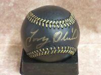 Tony Oliva Minnesota Twins Signed Black Baseball LOM COA (BSB205)