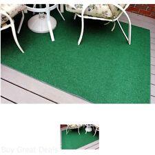 Indoor/Outdoor Green Artificial Grass Turf Area Rug 6x9 Decks, Yards, Camping