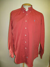 Ralph Lauren POLO men's red Long Sleeved Casual Shirt L 44-46 Euro 54-56