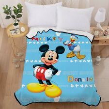 Mickey Mouse Blue Warm Super Soft Plush Fleece Blanket Throw Rug Home Sofa Bed