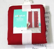 Pillowfort Twill Light Blocking Red One Curtain Panel Treatment 42 in x 84 in