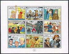 Belgium**TINTIN Rocket to Moon-CARTOON Characters-SHEET 9 stamps-Scouts-1999-MNH