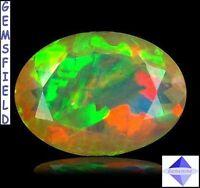 IF - 1.86ct ! OPALE  IRIDESCENTE arlequin d' ETHIOPIE mines de WELO - poli AAA++