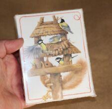 New ListingMarjolein Bastin Bird Squirrel Illustration Sealed Hallmark 12 Note Cards �