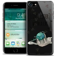 "Coque Crystal Gel Pour iPhone 7 (4.7"") Extra Fine Souple Quote Life's Better Wit"
