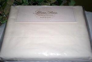 White QUEEN,KING or CAL KG Sheet Set Crisp PERCALE LONG STAPLE Cotton Sferra