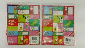 200 ADHESIVE CHRISTMAS NAME TAG STICKERS TO FROM PRESENTS GIFT PEEL STICK 73021