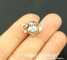 8pcs Teapot Charm Antique Silver Charm Necklace Pendant SC701