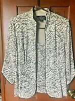 NWT Alex Evenings 2 pc jacket Asian Style Beige Sparkle Acetate Lined Sz M