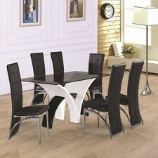 Up to 6 Seats Table & Chair Sets with 8 Pieces