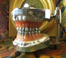 rare ancien columbia dentoforms dental deco dentiste chrome epoque 1940 new york