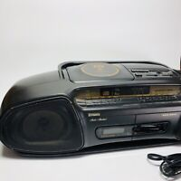 Vintage Fisher Boombox AMFM Double Cassette Player Portable Stereo CD (Shlf)