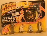 Kenner Action Masters Die Cast Star Wars 4-pack C-3PO R2D2 Princess Leia Obi-Wan