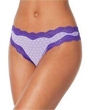 Calvin Klein Coquette Lace Thong Purple Purple XS