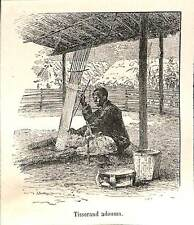 PARIS EXPOSITION UNIVERSELLE WORLD FAIR 1889 TISSERAND ADOUMA GRAVURE