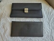 DKNY Donna Karan Back Nylon W/Genuine Leather Lining Checkbook TriFold Wallet 7""