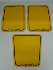 Nac's Racing standard number plate backgounds yellow number plates