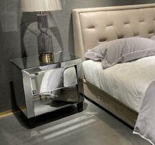 Brand New Mirrored Side Table with 2 Drawers 61H