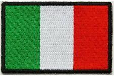 "(A53) ITALIAN FLAG 3"" x 2"" iron on patch (5183) Biker"