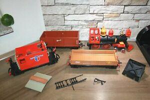 Playmobil Western Eisenbahn Lok Steaming Mary mit Waggons