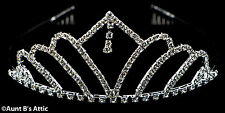 Tiara Rhinestone & Metal Silver Princess, Queen, Or Debutante Costume Headpiece