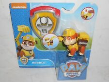 Brand New 2016 Nickelodeon/Spin Master PAW PATROL: RUBBLE & Badge 3+