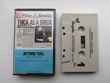 JETHRO TULL - THICK AS A BRICK - CASSETTE TAPE ALBUM - US IMPORT - IAN ANDERSON