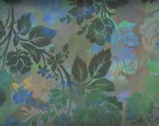 Diaphanous Night Bloom Teal ITB Jason Yenter fabric