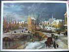 Vintage Print Dorf Im Winter J. de Mompeer Serie Grandi Maestri 0096