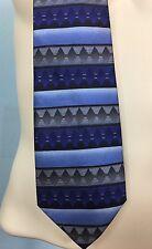 Bijoux Turner NWT Men's 100% Silk Tie Necktie Blue Multi Color 682536217048