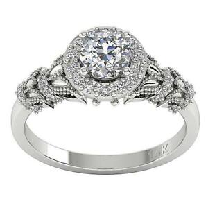 Solitaire Engagement Ring SI1 G Genuine 1.05 Ct Diamond 14K Solid Gold Prong Set
