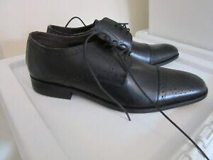 Ikon Brand new men`s black leather brogue shoes  size uk 7 (41)