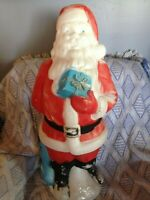 """DISCOUNTED VINTAGE 1972 CHRISTMAS EMPIRE 34"""" SANTA WITH GIFT BLOW MOLD #3"""