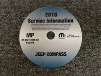 2018 Jeep Compass Shop Service Repair Manual CD Sport Latitude Limited Trailhawk