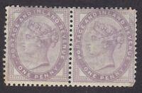 QV 1d 1881 Lilac - Mint - Pair (D9E)