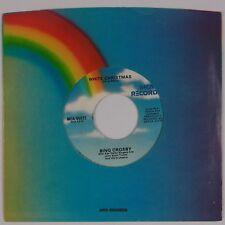 BING CROSBY: White Christmas / God Rest Ye Merry MCA Xmas 45 VG+ HEAR