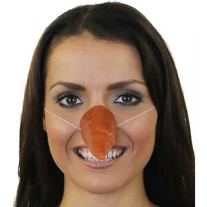 CARROT SHAPED NOSE FANCY DRESS ACCESSORY SNOWMAN SCARECROW CHRISTMAS ORANGE FOOD