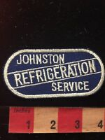 Vintage (Circa 1970s) JOHNSTON REFRIGERATION SERVICE Advertising Patch 81F2