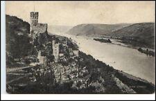 Burg Sooneck am Rhein alte Postkarte ~1920/30 Partie an der Burg Fluss Schiffe