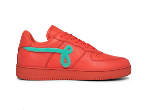 John Geiger GF-01 Peach Pebbled Leather Teal Chenille Banned Size 11 *