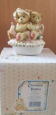 Cherished Teddies Heart Shaped Cupid Covered Box