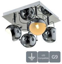 HARPER LIVING 4xG9 Ceiling Light, Adjustable Lights, Polished Chrome Finish