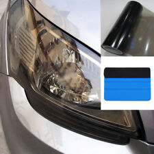 Gloss Light Black Smoke Vinyl Film Tint Headlight Taillight Wrap Cover Squeegee