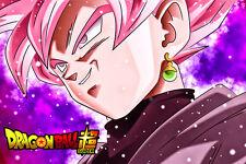 Dragon Ball Super Goku Black Super Saiyan Rose Poster 12in x 18in Free Shipping