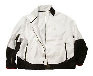 Polo Ralph Lauren Big & Tall Men's White Polo Sport Windbreaker Jacket